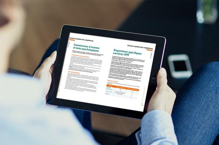 Guide interactif pratique CFDT des salariés Renault 2014-2015 sur un IPAD