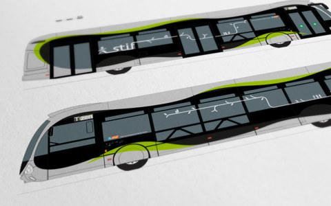 Création et réalisation graphique du design de l'habillage extérieur (livrée) du T Zen.
