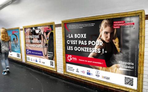 Campagne de communication pour la FSGL (fédération sportive gaie et lesbienne) - Tournoi International de Paris