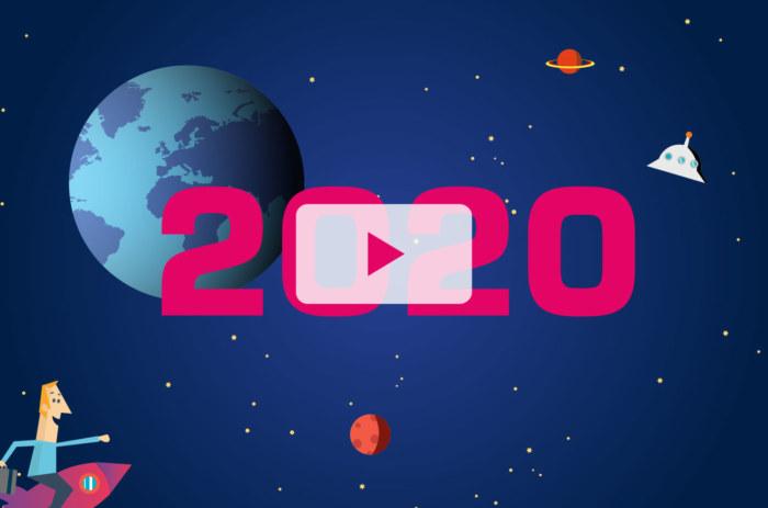 Vignette voeux 2020 du studio NORDSUD Création